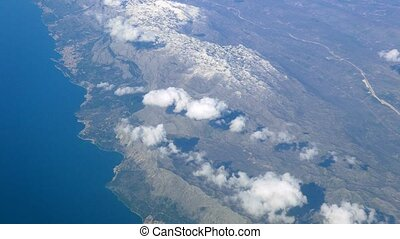 The coastline from aircraft