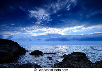 The coastline of the evening