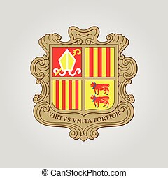 The Coat of Arms of Andorra