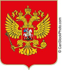 The coat of arms of Russia vector illustration eps10