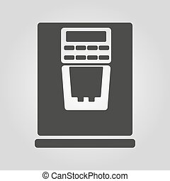 The coffee machine icon. Espresso and latte symbol. Flat