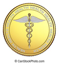 The coin with the image caduceus