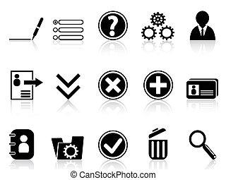 Black internet Account Settings icon