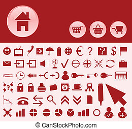 The collection of icons on a theme office. A vector illustration