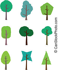 The collection of trees for design