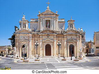 The Collegiate Church of St Paul in Rabat, Malta