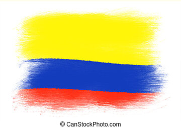 colombian flag wall abstract background