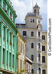 The colonial buildings of Havana