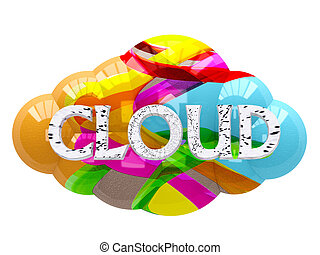 The color image cloud on a white background