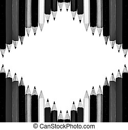 The Color of pencils isolated on white background