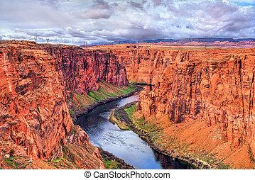 The Colorado River in Glen Canyon, Arizona