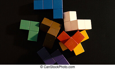 The colored cubes