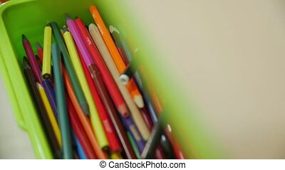 The colored pencils camera movement