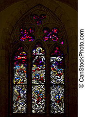 the colored rose window