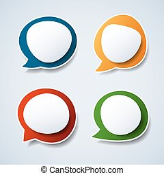 colored speech bubble with space for text