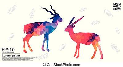 The Colorful Blackbuck deer pattern background.