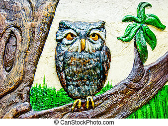 The Colorful ceramic of owl
