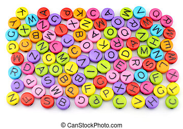 The Colorful of alphabet