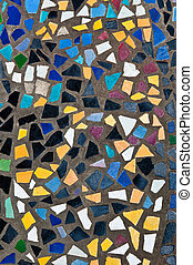 The Colorful of mosaic on floor background texture