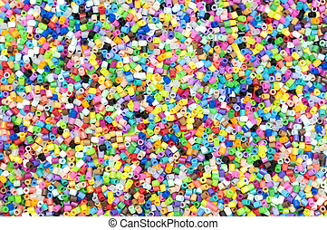 The colorful  of tiny  plastic tube background