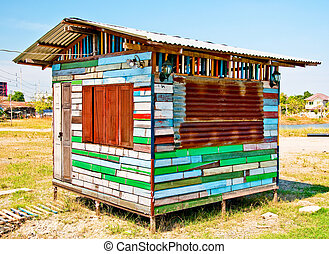 The Colorful of wooden house