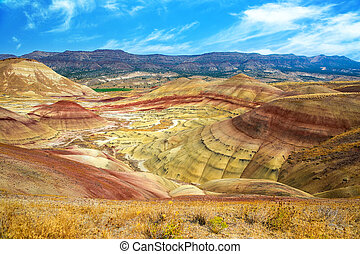 The Colorful Painted Hills in Eastern Oregon