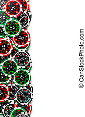 colorful poker chips background
