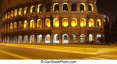 Colosseum at night, Rome