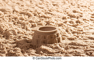 The Colosseum in sand close up. Background.