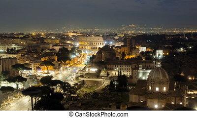 The Colosseum or Coliseum, Flavian Amphitheatre in Rome,...