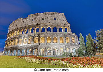 The Colosseum, or the Coliseum in Rome, Italy - The...