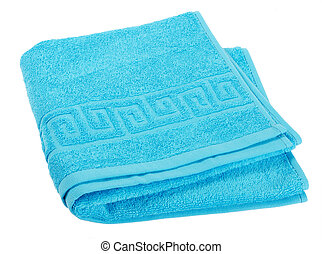 The colour towel isolated on white - The combined color...
