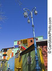 The colourful buildings of La Boca, Buenos Aires, Argentina