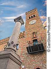 the Column of Hospitality in Bertinoro, Italy - the ancient ...