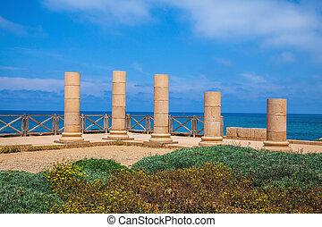 The columns on Mediterranean coast