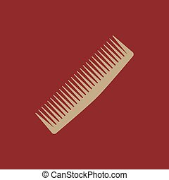 The comb icon. Barbershop symbol. Flat