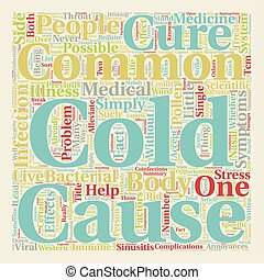 The Common Cold Can t Live With It Can t Live Without It text background wordcloud concept