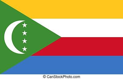 The Comoros flag. Vector illustration. Moroni