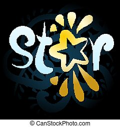 The company logo is associated with the word star on a black background. Vector