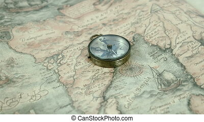 The compass arrows are moving getting some directions