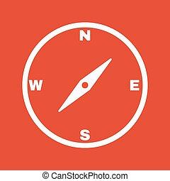 The compass icon. Compass symbol