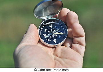 compass in the palm of your hand.