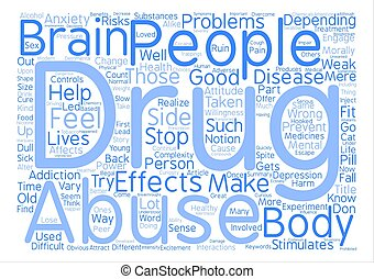 The Complexity Of Drug Abuse Word Cloud Concept Text Background