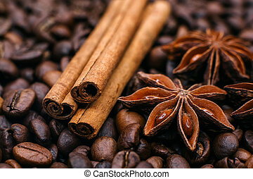 The composition of cinnamon and star anise