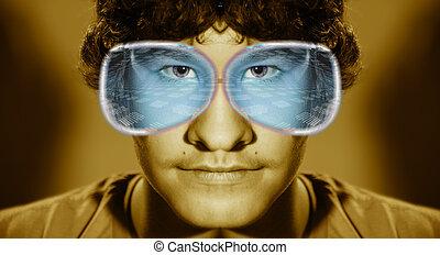 The computer genius in virtual glasses