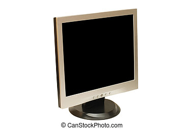 The computer monitor isolated on white background