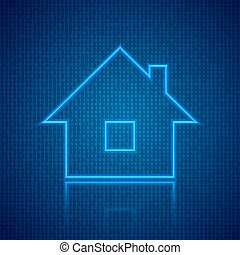The concept of a digital smart home. Vector illustration .