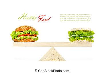 The concept of a healthy food, diet, losing weight.