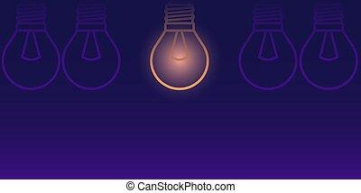 The concept of a new innovative idea. Vector illustration