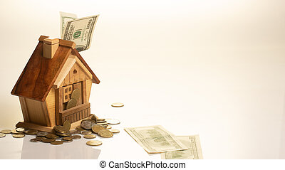 The concept of accumulation of money for habitation purchase house.